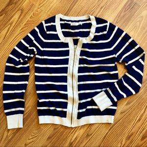 Striped Zip-Up Sweater